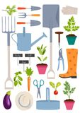 Set of gardening tools Stock Photos