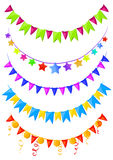 Set garlands, bunting Royalty Free Stock Images