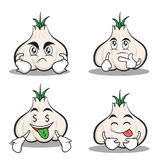 Set garlic cartoon character collection. Vector illustration Stock Photo