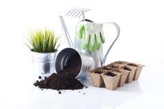 Set Gartenhilfsmittel Stockbild
