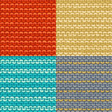 Set of Garter Stitch seamless patterns. Stock Photography