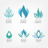 Set of gas icons Stock Photos