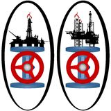 Set gas industry icons Stock Photography