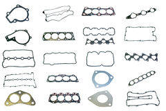 Set of gaskets for engine passenger car Royalty Free Stock Photo
