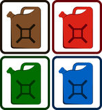 Set gasoline jerry can. Set colorful gasoline jerry can isolated Stock Photo