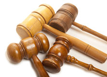 Set gavel  Royalty Free Stock Images