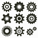 Set of gear icon Royalty Free Stock Photography