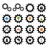 Set of gear wheel logos Stock Photography