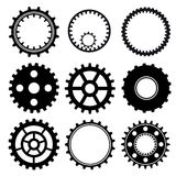 Set of gear wheels. Set of industrial gear wheel vector Royalty Free Stock Photos