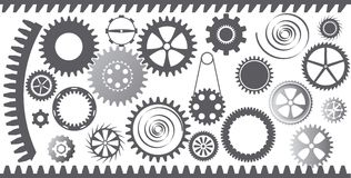 Set of gear wheels Royalty Free Stock Photos