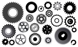 Set of gear wheels stock illustration