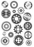 Set of gear wheels. Isolated on white Royalty Free Stock Images