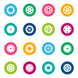 Set of gear wheels on color background, illustration Stock Photo