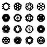 Set of gear wheels,  illustration Stock Photos