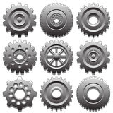 Set of gear wheels Royalty Free Stock Photo