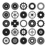 Set of gear wheels isolated on white background Royalty Free Stock Photo