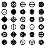 Set of gear wheels, vector illustration Royalty Free Stock Photography