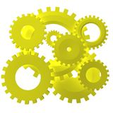 Set of gears Stock Photography