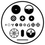 A set of gears. A vector image templates gears Royalty Free Stock Photos