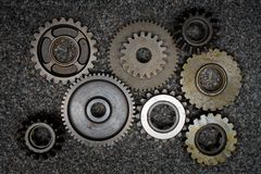 Set of gears royalty free stock photography