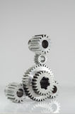 Set of gears on grey background. Set of gears on isolated background Royalty Free Stock Photo