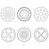 Set of gears icons Royalty Free Stock Images