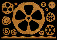 Set of gears Royalty Free Stock Photos