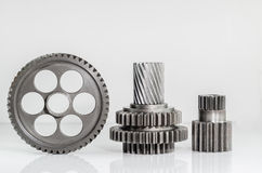 Set of gears on isolated. Background Royalty Free Stock Photos