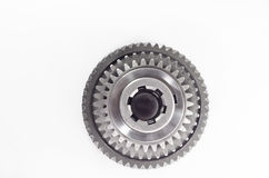 Set of gears on isolated. Background Royalty Free Stock Photography