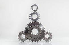 Set of gears on isolated. Background Stock Photos
