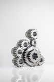 Set of gears on isolated. Background Stock Photo