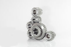 Set of gears on isolated. Background Royalty Free Stock Photo