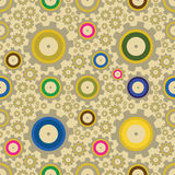 Set of gears, seamless pattern Stock Photos