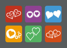Set of gears style heart icons Stock Images