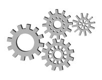 Set of gears. Vector illustration of set of gears Royalty Free Stock Image