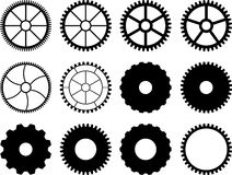 Set of gears. Royalty Free Stock Photo