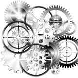 Set of gears wheels Stock Images