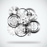 Set of gears wheels Stock Photography