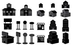 Set Gebäude Lizenzfreie Stockfotos