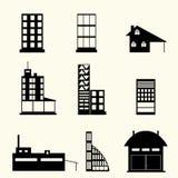 Set Gebäude Stockfotografie