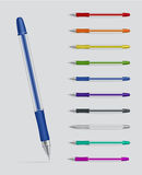 Set of gel pens Royalty Free Stock Images