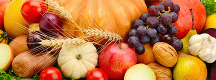Set Gemüse und Früchte Stockfoto