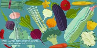 Set Gemüse Vektorillustration des gesunden Lebensmitteldesigns auf dem Thema des Vegetarismus und des Bauernhofes angemessen vektor abbildung