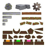Set gemowi elementy. Zdjęcie Stock