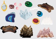 Set of gems Royalty Free Stock Photo