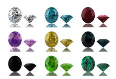 Set of  gems Royalty Free Stock Photos