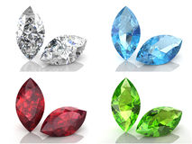 Set of gems Royalty Free Stock Images