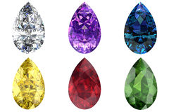 Set of gems Royalty Free Stock Photography