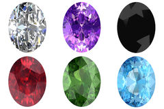 Set of gems stock illustration