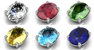 Set of gems Royalty Free Stock Image